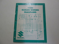 1980 Suzuki Motorcycle T Models Wiring Diagrams Manual MINOR FADING WEAR STAINS
