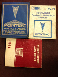 1981 Pontiac Firebird Trans Am Grand Prix Service Shop Repair Manual Set W FB x
