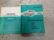 1983 TOYOTA CELICA Service Repair Shop Manual SET W Electrical Wiring Diagram x