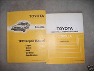1983 TOYOTA COROLLA Workshop Service Repair Shop Manual Set OEM W EWD Book