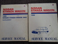 1986 Nissan Stanza Wagon Service Repair Shop Manual Set Factory OEM Books 86