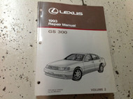 1993 LEXUS GS300 GS 300 Service Repair Shop Manual VOLUME 2 ONLY Factory