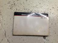 1994 LEXUS ES300 ES 300 Owners Operators Owner Manual FACTORY OEM GLOVE BOX