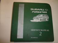 1998 Subaru Forester Service Repair Shop Manual VOL 2 WATER DAMAGED FACTORY OEM