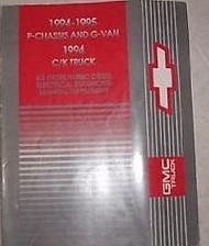 1994 1995 Chevy C/K Truck 6.5L DIESEL Electrical Service Shop Manual Supplement
