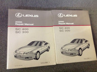 2000 LEXUS SC400 SC300 SC 400 SC 300 Service Repair Shop Workshop Manual Set
