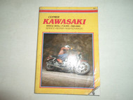 1981 1985 Clymer Kawasaki 1000 & 1100cc FOURS Service Maintenance Manual STAINED