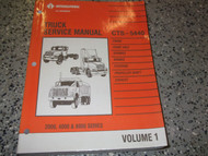 1993 1994 International TRUCK CTS 5440 2000 4000 8000 Service Shop Repair Manual