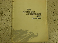 1979 Arctic Cat Accessories and Options Manual FACTORY OEM BOOK 79