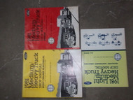 1981 Ford F&B 700 800 900 Medium & Heavy Truck Service Shop Manual Set OEM