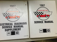 1987 Chevrolet CHEVY CORVETTE Service Repair Shop Manual SET W WIRING DIAGRAM 87