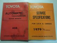 1979 Toyota Tercel A55 Transmission Service Repair Shop Manual Set OEM Books 79