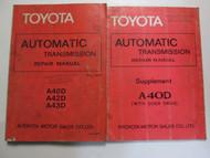 1978 Toyota AutomaticTransmission A40D A42D A43D Service Repair Manual Set OEM