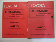 1978 Toyota AutomaticTransmission A40D Service Repair Shop Manual Set OEM Book