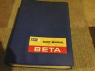 LANCIA BETA Saloons Coupes Service Shop Repair Workshop Manual RARE 828 AB AC