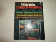 1971 Honda 100 125 Single 175 OHC TWIN KE1 450 DOHC Tune Up Manual DAMAGE FADING