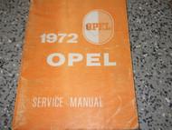 1972 OPEL GT & 1900 Service Shop Repair Workshop Manual BOOK Factory OEM 72