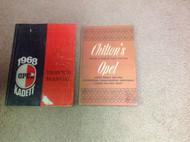 1968 OPEL KADETT & GT Service Shop Repair Manual Set W Chilton's Manual 68
