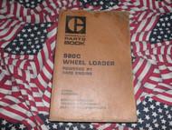 Caterpillar 980C Wheel Loader Part Book 63X1 &up 3406