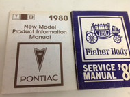 1980 Pontiac New Product Model & Fisher Body Manual Set OEM GM Factory 1980