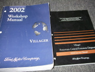 2002 Ford Mercury Villager Van Service Shop Repair Workshop Manual Set W PCED