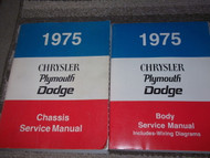 1975 Chrysler Plymouth Dodge Car Cars Service Shop Repair Workshop Manual Set