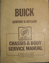 1982 BUICK CENTURY Shop Repair Service Workshop Manual 82 OEM BOOKS OEM