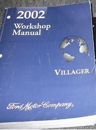 2002 Ford Mercury Villager VAN Service Shop Repair Manual 2002 FACTORY OEM MINI