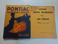 1949 1950 Pontiac Series 2000 2200 Maintenance Manual 2 VOL SET STAINED FACTORY