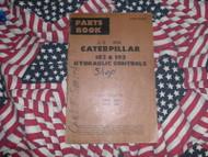Caterpillar 183 193 Hydraulic Control Part Book 1965