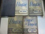 1961 GM Pontiac TEMPEST Service Repair Shop Manual 5 Volume Set Factory OEM Used