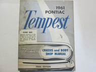 1961 GM Pontiac TEMPEST Service Repair Shop Manual Factory OEM Final Edi Used