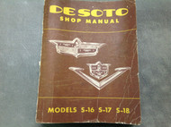 1952 1953 Desoto S16 S17 S18 Firedome Workshop Service Shop Repair Manual OEM x