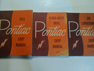 1955 Pontiac All Models Service Shop Manual 3 Volume SET STAINED WORN FACTORY x