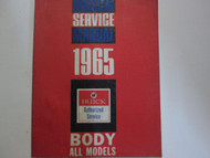 1965 BUICK All Models Body Service Repair Shop Manual Factory OEM Book Used