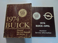 1974 Buick All Series Service Repair Shop Manual 2 VOL SET DAMAGED STAINED WORN