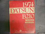 1974 Datsun B210 Service Repair Shop Workshop Manual Factory OEM 74