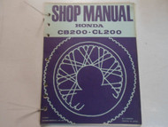 1974 HONDA CB200 CL200 Service Shop Repair Manual LOOSE LEAF MINOR STAINS DEAL