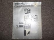 1984 1986 Mercedes C.I.S E Engine 102.961 985 Diagnosis Adjustment Manual DAMAGE