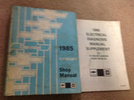 1985 GM Chevrolet Chevy Camaro Service Shop Repair Workshop Manual OEM Set W Sup