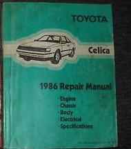 1986 Toyota Celica Service Repair Shop Workshop Manual FACTORY OEM BOOK