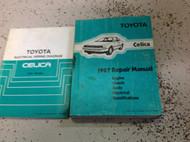 1987 Toyota Celica Service Repair Shop Manual Set FACTORY W Wiring Diagram x OEM