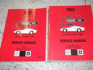 1993 Chevrolet Chevy CORVETTE Service Repair Shop Manual SET OEM W Supplement GM