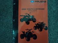 2008 Polaris YOUTH 4 STROKE 4-STROKE Shop Repair Service Manual FACTORY 08 x