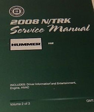 2008 Hummer H2 H 2 Service Repair Shop Manual Set FACTORY BRAND NEW GM OEM