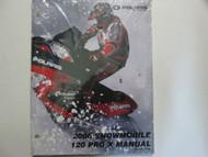 2006 Polaris SNOWMOBILE 120 PRO X Service Shop Repair Manual OEM FACTORY NEW 06