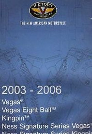 2005 2006 POLARIS VICTORY VEGAS 8 BALL KINGPIN NESS Service Shop Repair Manual