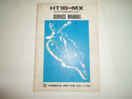 1972 Yamaha HT1B-MX Supplementary Service Manual STAINED FACTORY OEM BOOK 72