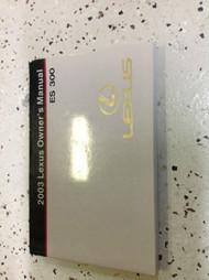 2003 LEXUS ES300 ES 300 Owners Manual FACTORY DEALERSHIP GLOVE BOX GUIDE OEM 03