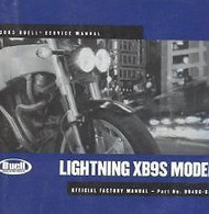 2003 BUELL LIGHTNING XB9S MODEL Service Shop Repair Workshop Manual NEW OEM 2003